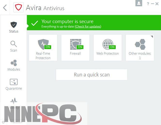 Avira Antivirus screenshot